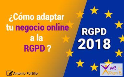 Cómo adaptar tu negocio online a la RGPD